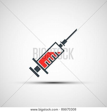 Vector icon Medical Syringe