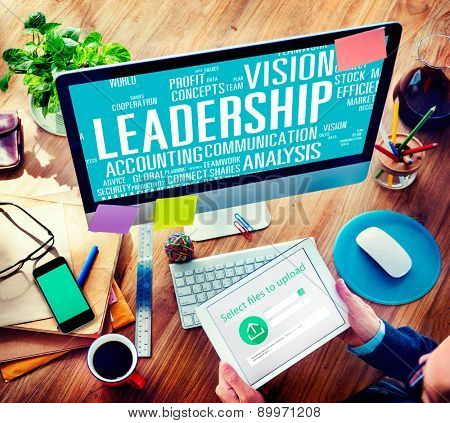 Leadership Boss Management Coach Chief Global Concept