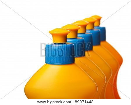 Top Of Yellow Plastic Bottles