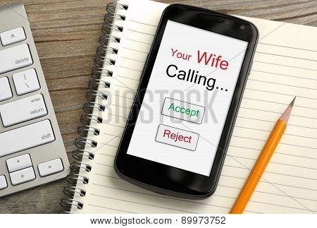 incoming call from wife