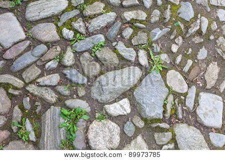 River Rough Stones Pavement Background