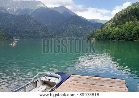 Highland Lake Riza. Abkhazia