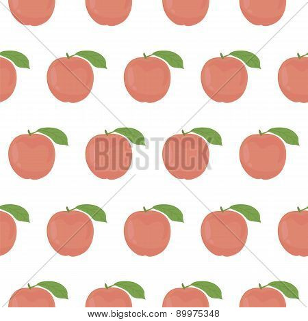 Seamless Pattern With Peaches