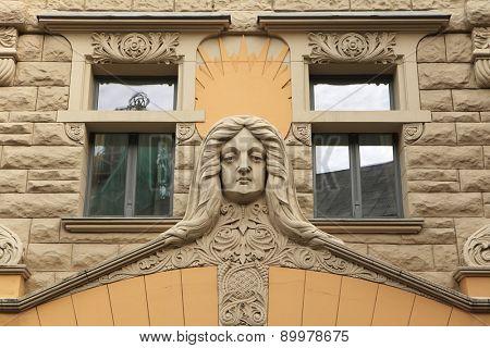 Art Nouveau building in Riga, Latvia.