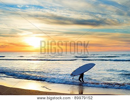 Paddle Surfing, Portugal