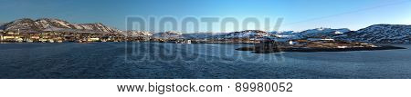 Panorama of the Norwegian port.