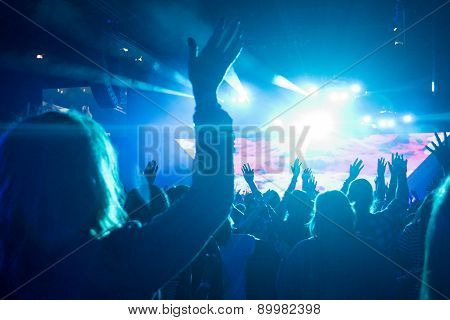 Female At Rock Concert