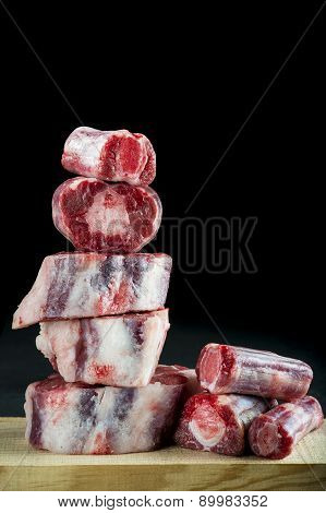 Fresh And Raw Oxtail Cut