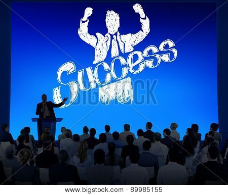 Success Achievement Winning Gain Profit Concept