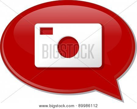 Word speech bubble illustration of discussion forum blog photography photo camera