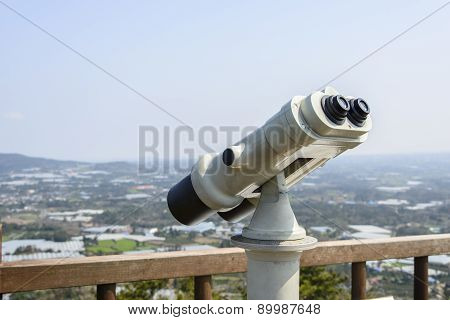 Binoculars At A Observatory