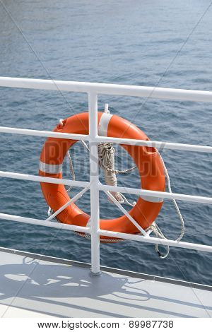 Lifebelt Hang On A Banister A Passenger Ship
