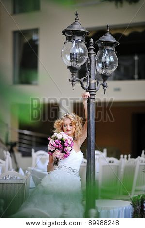 Young Beautiful Blonde Model Bride