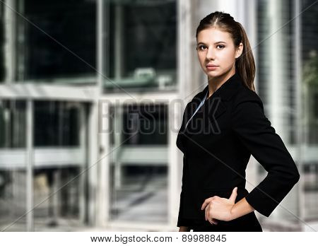 Young businesswoman outdoor