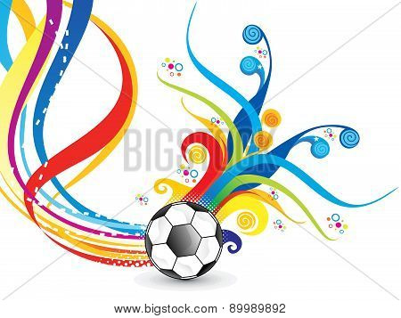 Abstract Artistic Colorful Football Explode