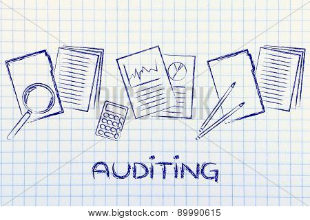 Auditing Procedures: Design With Business Documents And Stats