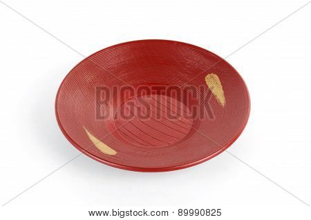 Red Plate Japanese Style