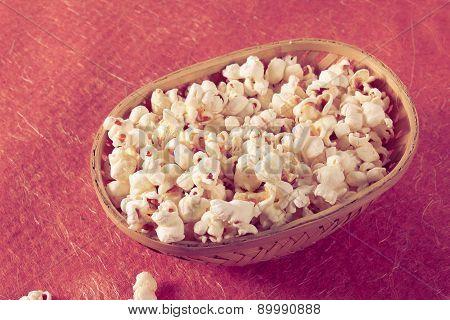 Popcorn In Bucket - Retro Style