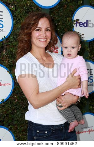 LOS ANGELES - APR 26:  Rebecca Budig at the Safe Kids Day LA at the The Lot on April 26, 2015 in Los Angeles, CA