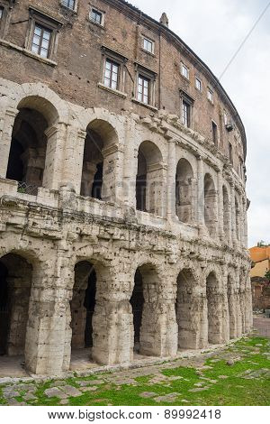 Theatre Of Marcellus In Rome, Italy