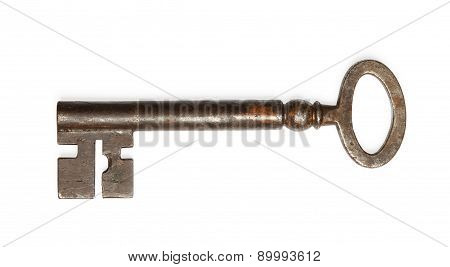 Old Key Isolated On White Background