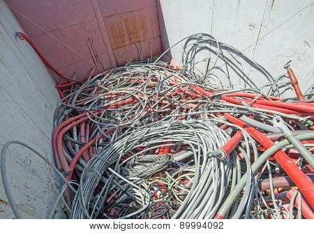 Hazardous Waste Landfill Full Of Electrical Wires