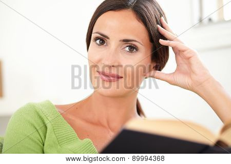 Caucasian Woman Looking At The Camera