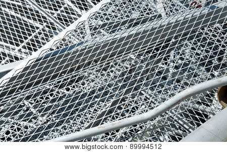 Grid Iron And Ferrous Material In The Landfill