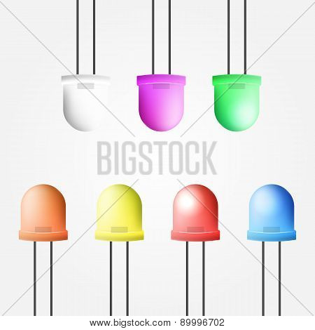 Vector illustration of colored diode