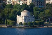 stock photo of neo-classic  - The Volta Temple in Como town Italy - JPG