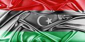 stock photo of libya  - Libya Flag - JPG