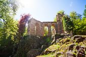 foto of aqueduct  - Old ruins of aqueduct in Lowenburg park, Kassel Germany Europe