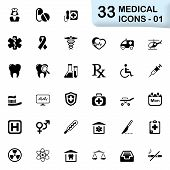picture of medical chart  - Medical vector icons for mobile phone interface and web - JPG