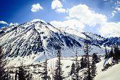 image of blue ridge mountains  - Mountains landscape in winter in Tatras - JPG