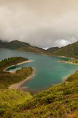 stock photo of lagos  - Caldera Lago di Fogo  - JPG