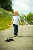 image of skateboarding  - Active childhood - JPG