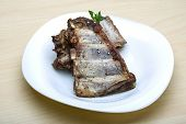 image of roasted pork  - Roasted pork ribs with herbs and spices - JPG