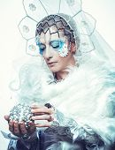 pic of snow queen  - Snow Queen over white background - JPG