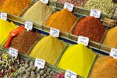 image of arabian  - Colorful spices on the traditional arabian souk  - JPG