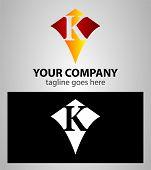 picture of letter k  - Letter K logo icon design template elements - JPG