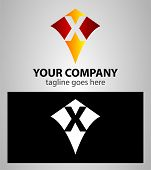 picture of letter x  - Abstract logo icon design template elements with letter X - JPG