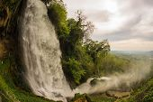 foto of cataract  - Exciting and powerful waterfalls in Edessa northern Greece - JPG