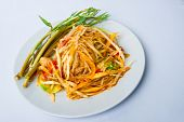 Spicy Papaya Salad With Fermented Fish poster