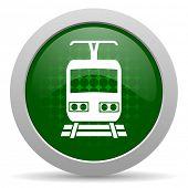 stock photo of railroad-sign  - train icon public transport sign  - JPG