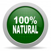 picture of 100 percent  - natural icon 100 percent natural sign  - JPG