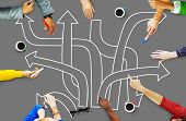 stock photo of intersection  - Direction Intersection Decision Option Chance Concept - JPG