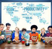 pic of efficiencies  - Productivity Vision Idea Efficiency Growth Success Solution Concept - JPG