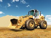 pic of wheel loader  - Computer generated 3D illustration with a Wheel Loader - JPG