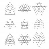 picture of geometric shape  - Set of geometric hipster shapes - JPG