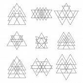 image of geometric shapes  - Set of geometric hipster shapes - JPG